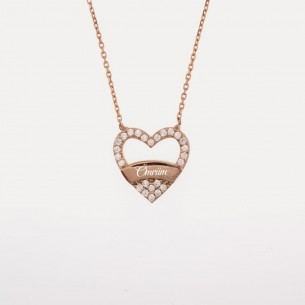 Heart Name Silver Necklace