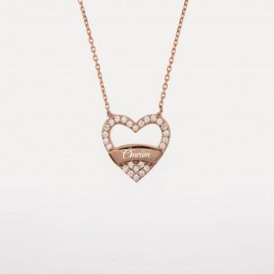 Herz Name Silber Halskette