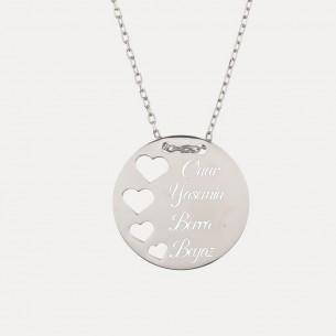 925 Sterling Silber Namenskette