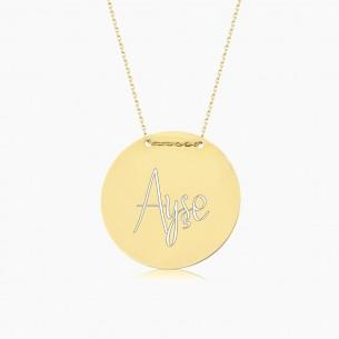 Medaillon Name Silber Halskette