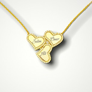 Lucky Heart Name Necklaces