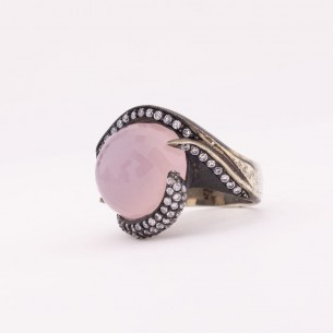 Big Stone Women Silver Ring