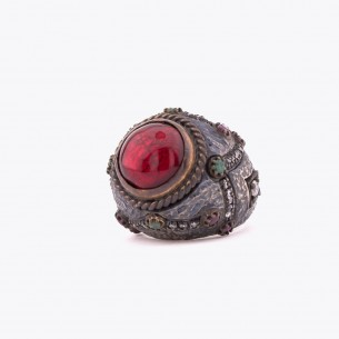 Big Stone Frauen Silber Ring