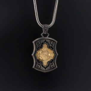 Moon Star Necklace in 925...