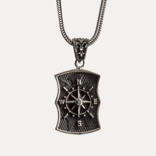 Compass Necklace in 925...