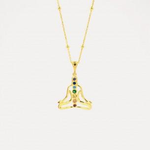 Chakra-Modell Halskette aus 925er Sterlingsilber