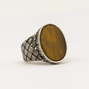 Tiger Eye Stone 925s Silver...