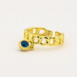 Evil Eye Beaded Ring in 925...
