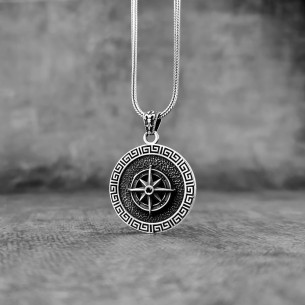 Compass Necklace in 925 Sterling Silver