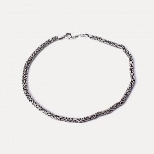 925 Sterling Silver King Chain Bracelet 2mm