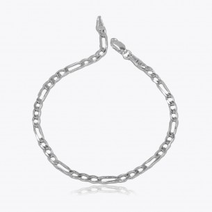 925 Sterling Silver Figaro Chain Bracelet (4mm)