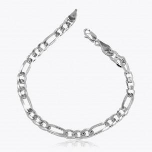 925 Sterling Silver Figaro Chain Bracelet