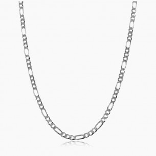 60cm-4mm Figaro Chain in 925 Sterling Silver