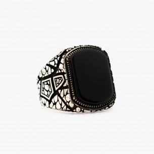 Onyx Stone 925 Sterling Silver Men Ring