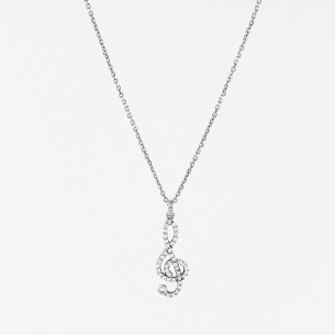 Treble Clef 925 Sterling...