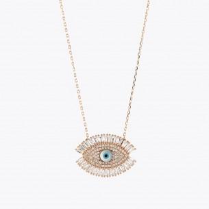 Evil Eye 925 Sterling Silver Necklace