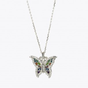 Butterfly 925 Sterling Silver Necklace