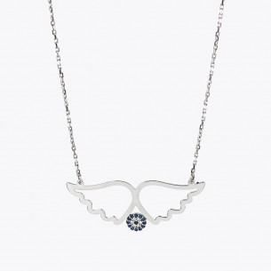 Angel Wings Necklace in Sterling Silver