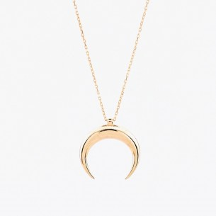 Moon Necklace in Sterling...