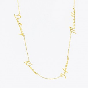 4 Names Necklace