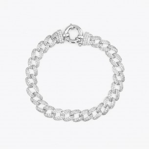 925 Sterling Silver Bracelet With Stone