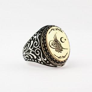 Ottoman Tugra 925s Silver Ring
