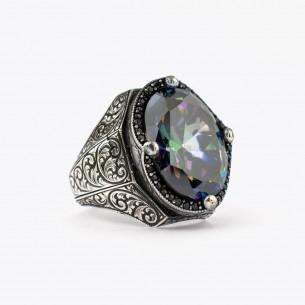 Mystic Topaz Stone Silver...