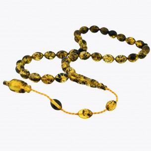 7mm x 9mm amber Rosary Tesbih