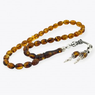 8,3mm x 6mm amber Rosary...