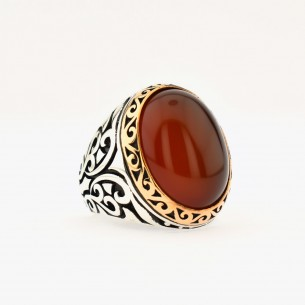 Red Agate 925 Sterling...
