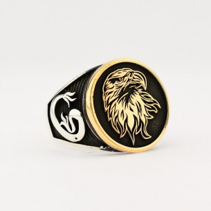 Eagle Figured Silver Ring