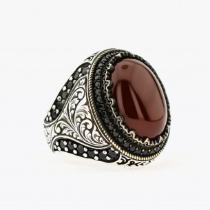 Agate 925 Sterling Silver...
