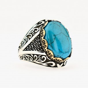 Silver Ring with Turquoise...