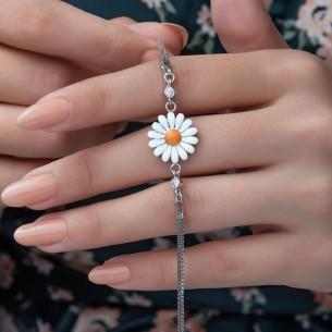 Gänseblümchen Silberarmband