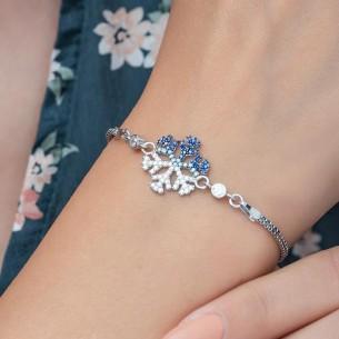 Schneeflocke Silberarmband