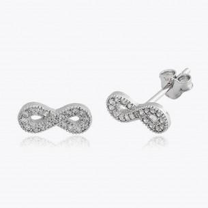 Infinity Cz Earrings in...