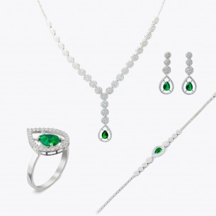 Jewelry Set Necklace Ring...
