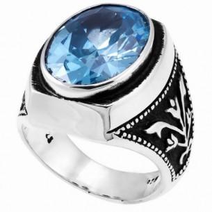 Aquamarine Stone Men's Ring...