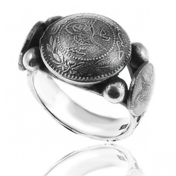 Ottoman Mens Ring in Sterling Silver