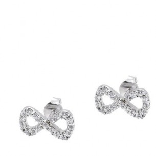Forever Infinity Cz Earrings in Sterling Silver