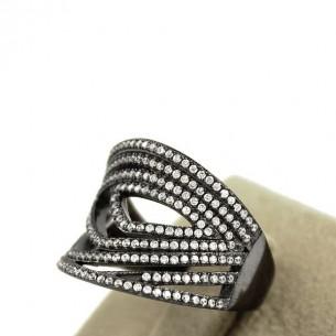 Fantazi Pırlanta Model Zirkon Gümüş Yüzük