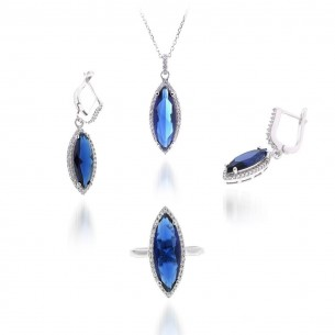 Sterling Silver Ring, Pendant and Earrings Set