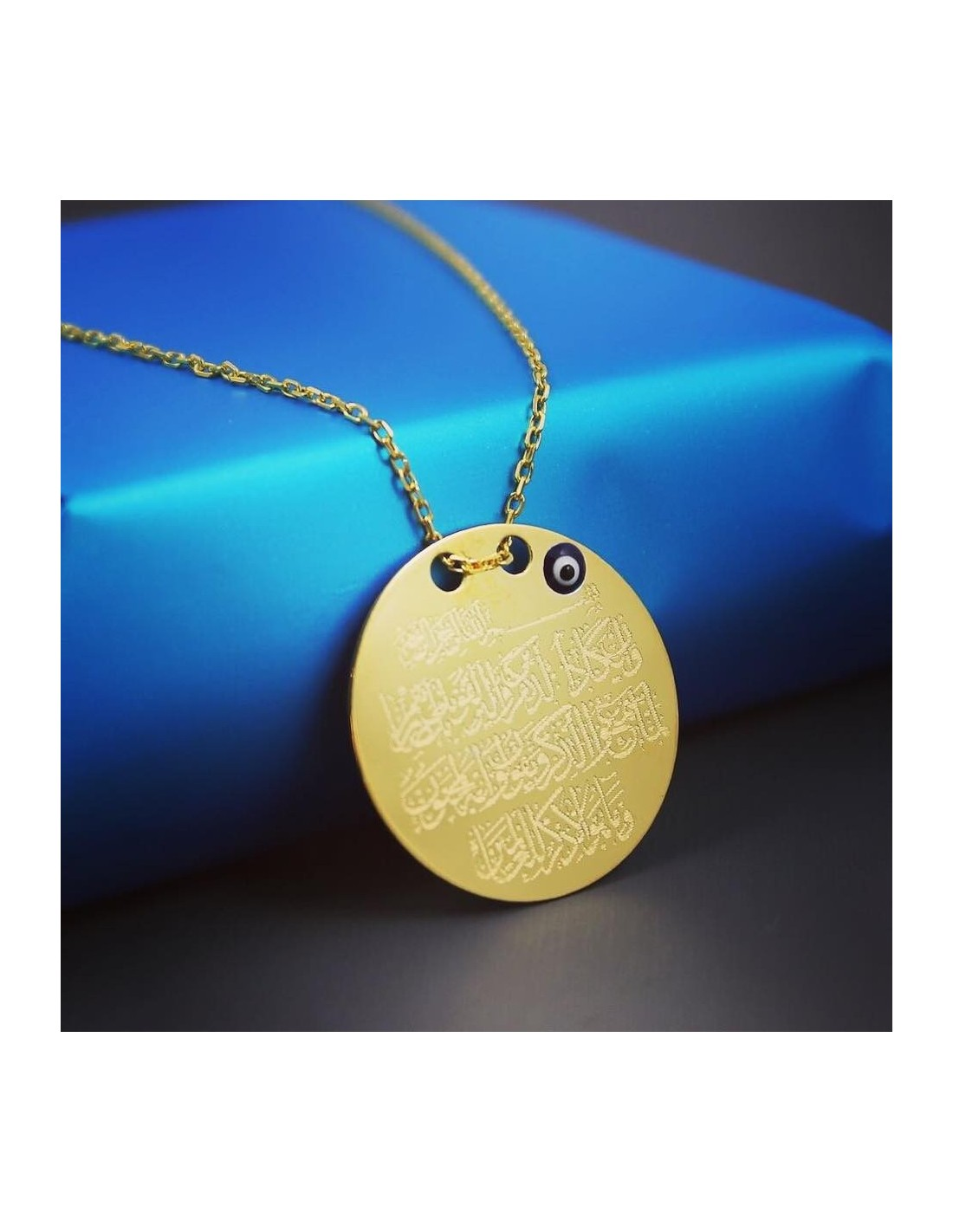 Evil eye protection surat medallion necklace in sterling silver evil eye protection surat medallion necklace in sterling silver aloadofball Image collections