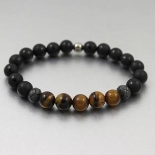 Black Men Steel Cuff Bracelet
