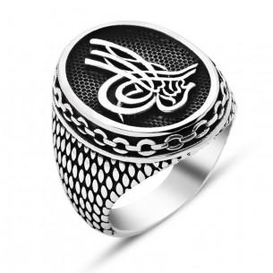 Osmanli Tugrali Gümüş Yüzük