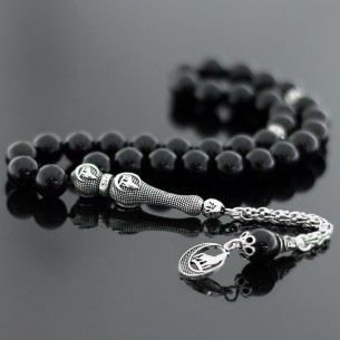 Moon Star Sterling Silver Prayer Beads