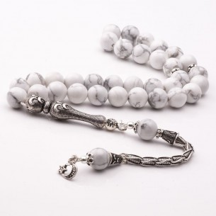 Moon Star Silver Tassel Prayer Beads