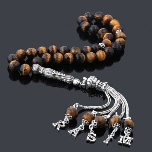 Tiger Eye Stone Eagle Prayer Beads