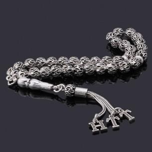 Oxidized Silver Prayer Beads