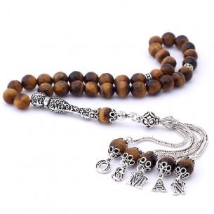 Tiger Eye Stone Eagle Prayer Beads
